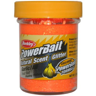 Berkley Powerbait Natural Scent Fluorescent Orange Garlic