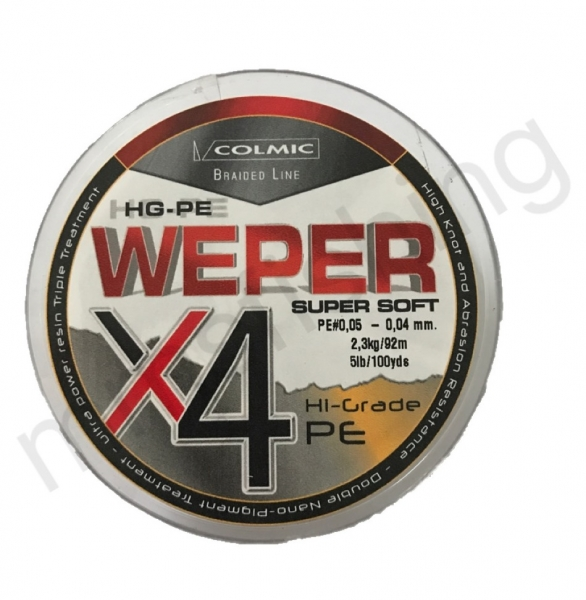 Weper X4 Super Soft 0,04mm 92m 2,30kg Grau/ Orange